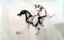 Force | Drawing by artist Mithun Dutta | | charcoal | Paper