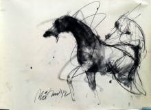 Motion IX | Drawing by artist Mithun Dutta |  | charcoal | Paper