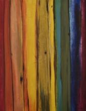 Abstract Mixed-media Art Painting title Joy by artist Durshit Bhaskar