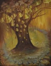 Religious Oil Art Painting title Devotion by artist Durshit Bhaskar