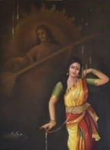 The Divine Dance | Painting by artist Durshit Bhaskar | oil | Canvas