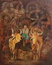 Countryside   Painting by artist Durshit Bhaskar   oil   Canvas