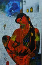 Musician | Painting by artist Appam Raghavendra | acrylic | Canvas