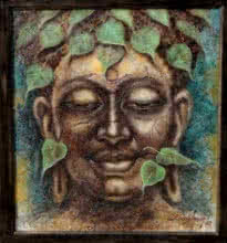 Darshan Sharma | Oil Painting title Gautama Buddha 2 on Canvas | Artist Darshan Sharma Gallery | ArtZolo.com
