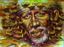 Darshan Sharma | Oil Painting title Sai Baba on Canvas | Artist Darshan Sharma Gallery | ArtZolo.com