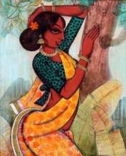 Rhythmic Beauty 2 | Painting by artist Varsha Kharatamal | acrylic | Canvas