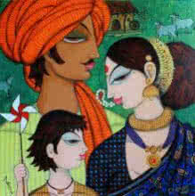 Family | Painting by artist Varsha Kharatamal | acrylic | Canvas