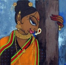 Love | Painting by artist Varsha Kharatamal | acrylic | Canvas