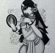 Beautiful Lady | Painting by artist Varsha Kharatamal | Acrylic | Canvas