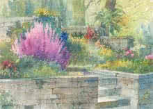 Flowerbeds | Painting by artist Sankara Babu | watercolor | Paper