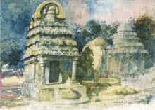 Temple Watercolor | Painting by artist Sankara Babu | watercolor | Paper