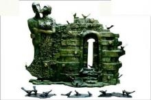 Birds Home Coming | Sculpture by artist Asurvedh Ved | Bronze