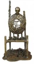 Golden Chair | Sculpture by artist Asurvedh Ved | Bronze