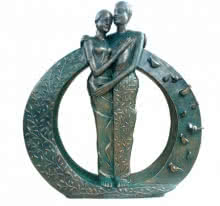 Asurvedh Ved | Life Circle Sculpture by artist Asurvedh Ved on Bronze | ArtZolo.com