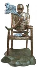 Mask Seller II | Sculpture by artist Asurvedh Ved | Fiber Glass