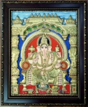 art,painting,tanjore,folk,indian,traditional,ganesha