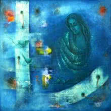 Mystic World II | Painting by artist Vijaya Ved | oil | Canvas