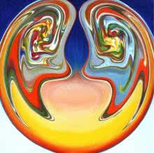 Ugra Samvad | Painting by artist Atul Padia | acrylic | Canvas