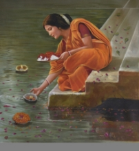 Reverence | Painting by artist Kamal Rao | oil | Canvas