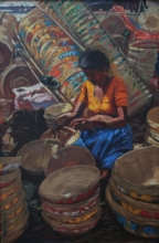 Figurative Oil Art Painting title Untitled 3 by artist Sachin Sawant