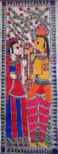 Religious Acrylic Art Painting title Ram Sita by artist Preeti Das
