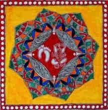 Religious Acrylic Art Painting title Ganesha by artist Preeti Das