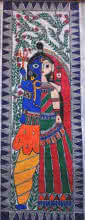 Preeti Das | Acrylic Painting title Ardhangini on Canvas | Artist Preeti Das Gallery | ArtZolo.com
