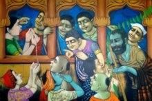5 Decoration Of House 48x71 Acralic On C | Painting by artist Apet Pramod | acrylic | Canvas