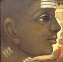 Batu 1 | Painting by artist Apet Pramod | acrylic | Canvas
