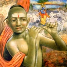 Religious Acrylic Art Painting title Krishna by artist Apet Pramod