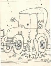 Mario Miranda Original B108 | Drawing by artist Mario Miranda |  | Pen&Ink | Paper