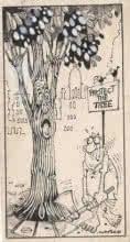 Mario Miranda Original C 177 | Drawing by artist Mario Miranda |  | Pen&Ink | Paper