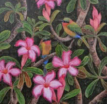 Duet 3   Painting by artist Vani Chawla   acrylic   Canvas