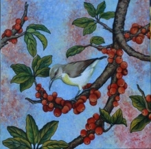 Sunbird   Painting by artist Vani Chawla   acrylic   canvas