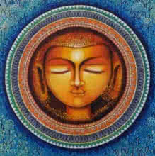 NITU CHHAJER | Acrylic Painting title Buddha The Rise Of Soul Consciousness S on Canvas Board | Artist NITU CHHAJER Gallery | ArtZolo.com