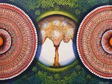Nature Acrylic Art Painting title Mandala- Expansion Beyond Dimension 3 by artist NITU CHHAJER