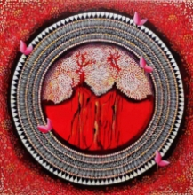 NITU CHHAJER | Acrylic Painting title Mandala - A Soul Connection 5 on Canvas | Artist NITU CHHAJER Gallery | ArtZolo.com