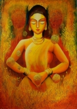Only Love Is Real | Painting by artist NITU CHHAJER | acrylic | Canvas