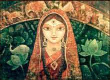Devi I | Painting by artist Indrani Acharya | acrylic | Canvas