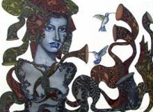 Nayika II | Painting by artist Umed Rawat | acrylic | Canvas