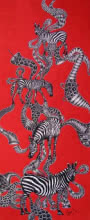 art, painting, acrylic, canvas, animal, zebra
