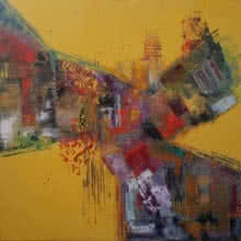 Sheetal Singh | Acrylic Painting title Autumn on Canvas | Artist Sheetal Singh Gallery | ArtZolo.com