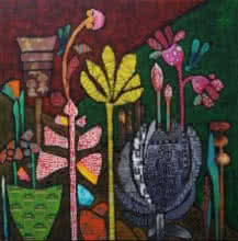 Sheetal Singh | Acrylic Painting title Flowers 2 on Canvas | Artist Sheetal Singh Gallery | ArtZolo.com