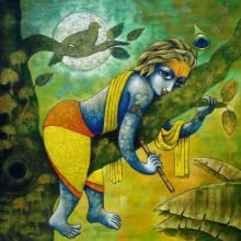 Bansidhar 43 | Painting by artist Ramchandra B Pokale | acrylic | Canvas