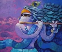 Bansidhar 44 | Painting by artist Ramchandra B Pokale | acrylic | Canvas