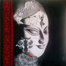 Figurative Mixed-media Art Painting title Devi 35 by artist Uttara Joshi