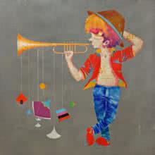 Memories Of The Childhood Xvi | Painting by artist Shiv Kumar Soni | acrylic | Canvas