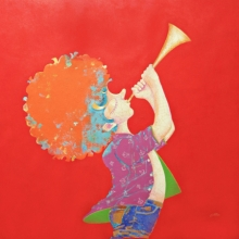 Pop Art Acrylic Art Painting title 'The Childhood 25' by artist Shiv Kumar Soni