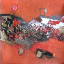 Deepak Guddadakeri Paintings | Acrylic Painting - Red Abstract by artist Deepak Guddadakeri | ArtZolo.com
