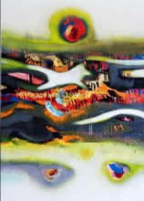 Abstract Acrylic Art Painting title The Third Eye by artist Deepak Guddadakeri